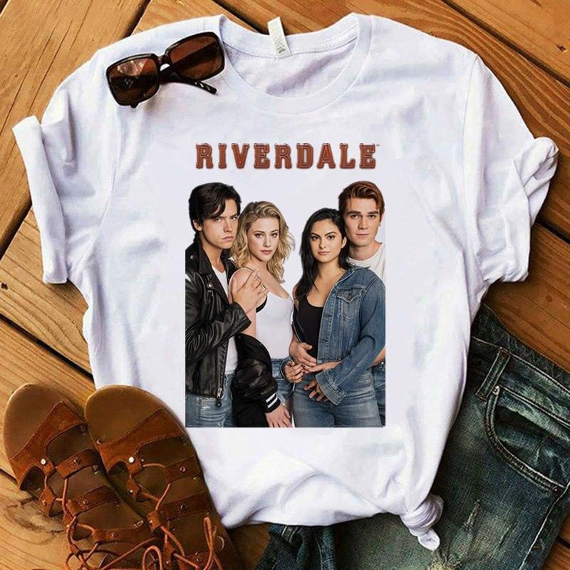 Riverdale printed Women t shirt Harajuku O-neck short sleeve T-shirt Tops Fashion 90s Graphic Top Tee Female Tee shirt