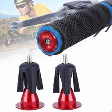 1 pair Bicycle Handlebar Cap Grips Aluminum End Lock-On Plugs Bar Caps Covers bicycle Parts
