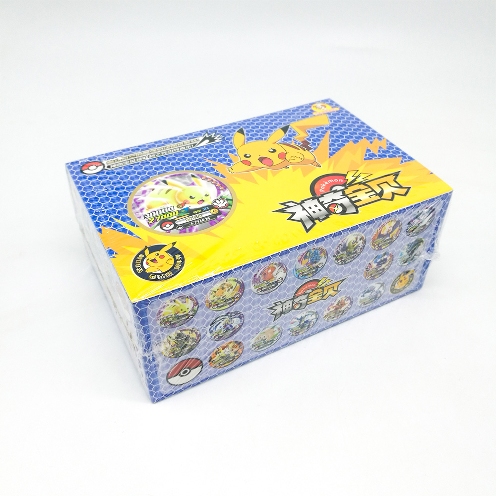 TAKARA TOMY Toys 288pcs Shining Pokemon Round Cards Collections Pikachu Flash Card 12pcs/box 24box/set Board Game For Kids Gift