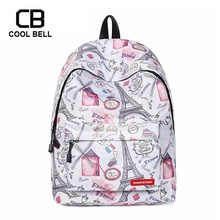 Eiffel Tower Women Backpack Fashion Casua Girls School Bags For Teenager Grils Kids Bag Children Cute