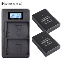 2Pcs EN-EL14 EN-EL14a ENEL14 EN EL14 EL14a Battery +LCD Dual USB Charger for Nikon D3100 D3200 D3300 D5100 D5200 D5300 en el14 battery charging cradle for nikon en el14 100 240v 2 flat pin plug