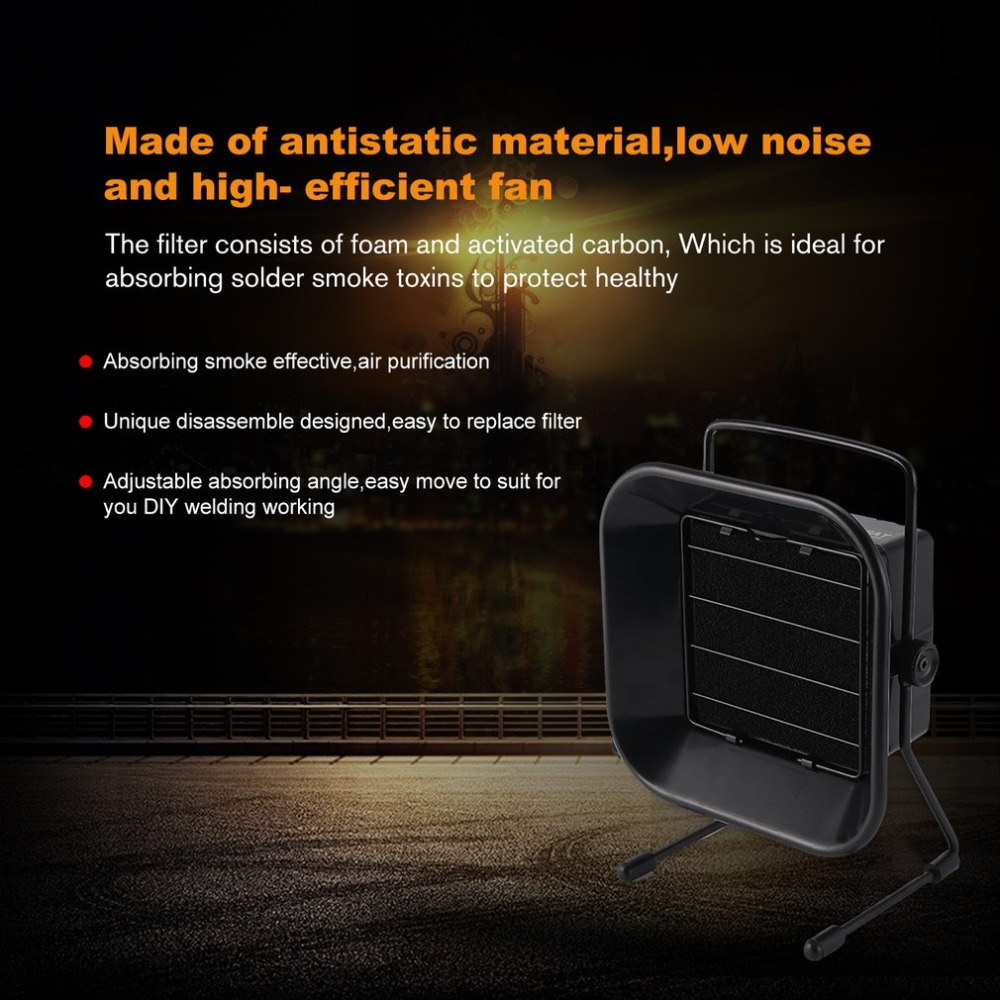 US Adjustable Welding Solder Smoke Absorber Remover Fume Extractor Carbon Filter Quiet Fan For ESD Soldering Station