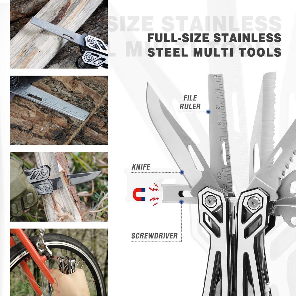 MOSSY OAK 21 in 1 Multi Plier Wire Stripper Folding Plier Outdoor Camping Multitool  Pocket Mini Portable Folding Pliers 5