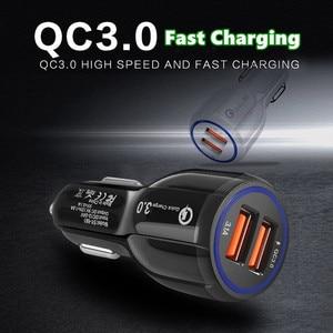 Image 5 - Qc 3.0 2.0 デュアル usb 車の充電器急速充電 iphone 11 プロマックス huawei 社 P30 プロサムスン錠車の充電器