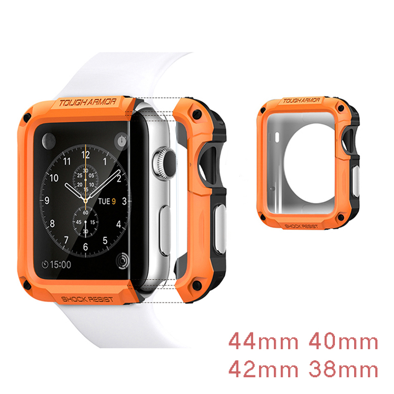 SGP PC Case Cover Anti-fall Frame For Apple Watch Case 44mm 40mm 42mm 38mm Protector For Iwatch Series 4 3 2 1 Shell Accessories