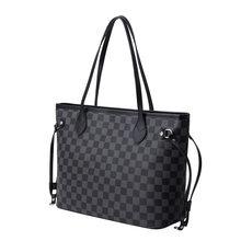 2021 europa e America nuova borsa da donna portatile di lusso con una spalla borsa Tote semplice di grande capacità, borsa Shopping con stampa a quadri