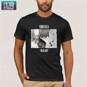 Nirvana отбеливатель футболка рок-группа альтернатива Курт Кобейн удивительные короткий рукав уникальный юмор футболка 100% хлопок топы графич...