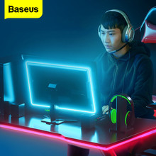 Baseus LED Strip Light RGB 5050 Flexible USB LED Tape Ribbon String Lamp 5V RGB Gaming LED Lights Stripe TV PC Backlight 1m 1.5m 5v rgb led strip 5050 2835 tira led usb ribbon rgb backlight tape for computer tv fita led stripe flexible neon light warm white