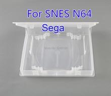 10Pcsป้องกันกล่องCD DVDสำหรับN64 SNESการ์ดเกมกล่องเก็บสำหรับPlaystation sega Genesis MD