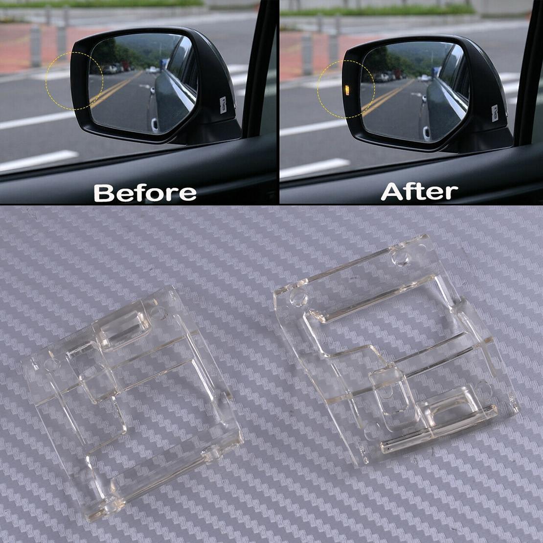 DWCX 2pcs PC Car Side Mirrors Assistant Turn Signal Light Lens Indicators Clear Fit For Subaru STI WRX 2015 2016 2017 2018 2019