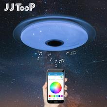 Светодиодный музыкальный потолочный светильник RGB Bluetooth, динамик, лампа для дома, вечерние, спальни, 220 В, 36 Вт, 40 Вт, пульт дистанционного управления с регулируемой яркостью, приложение, умный красочный светильник ing