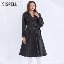 Женская ветровка sispell повседневная куртка с отложным воротником