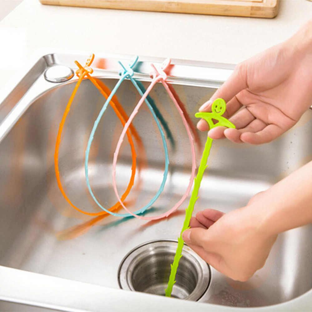 51cm mutfak banyo lavabo boru-drenaj temizleyici boru hattı saç temizleme kaldırma duş tuvalet kanalizasyon takunya uzun çizgi plastik kanca