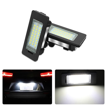 2x For BMW E90 E92 E93 E39 M5 E70 E71 X5 X6 E60 M5 M3 Car License Number Plate Light Canbus Led Lamp Blub 6000K image