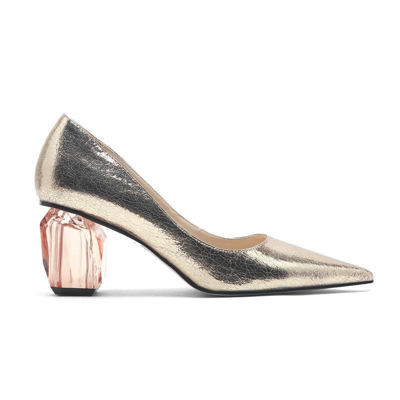YECHNE Fashion Be Teen Pumps Women High Heels Women's Shoes Bridal Shoes Gold Silver Cartridge Plus Size Crystal Pumps
