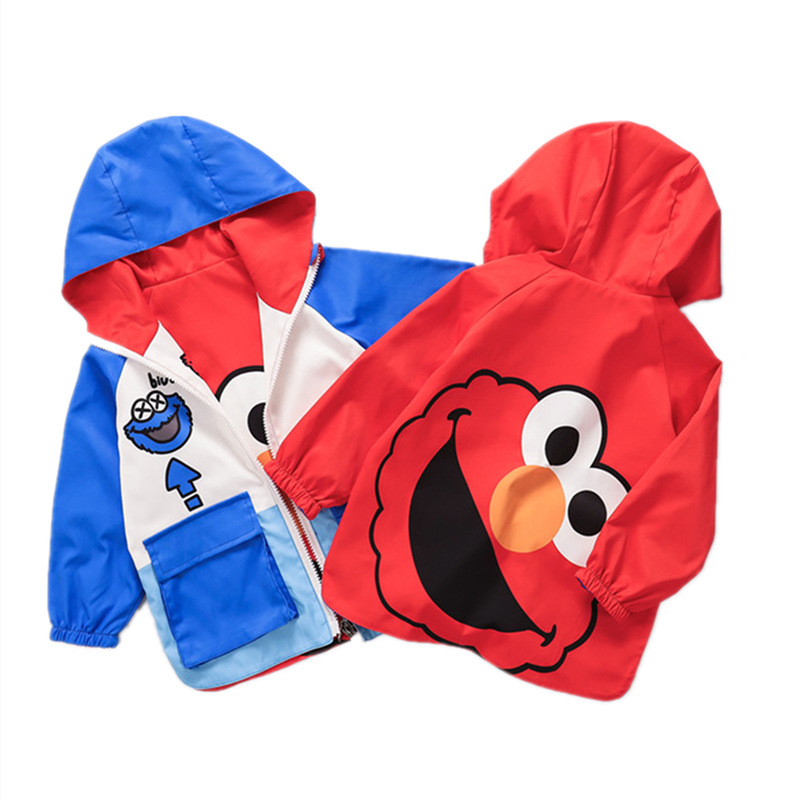 Children Coat Outwear Hooded Girls Reversible Jackets Cartoon Printed Kids Coats For Boys Jacket 2 Sides Wear Baby Girl Clothes