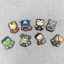 8pcs Hero Marvel Avenger Cartoon Figure Fridge Magnets Souvenir Icon Sticker Refrigerator Magnet Xmas Gift Home Decor Kid