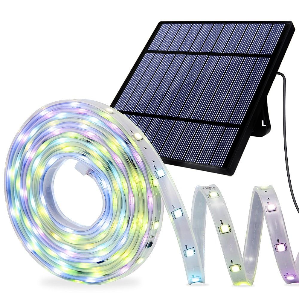 Solar Strip Lights 4.5M Flexible 8 Lighting Modes Waterproof Solar Garland Lamp For Patio Garden Home Wedding Fairy Lights
