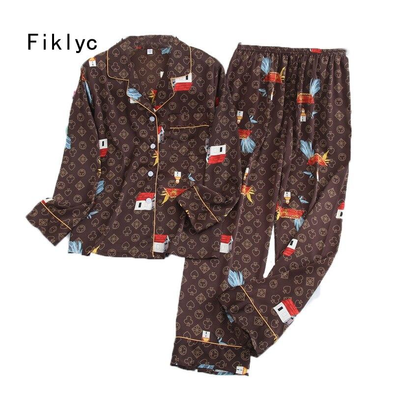 Fiklyc underwear beautiful women's sleep suits nightwear pajamas sets new arrival high quality M L XL XXL pyjamas sets|Pajama Sets| - AliExpress
