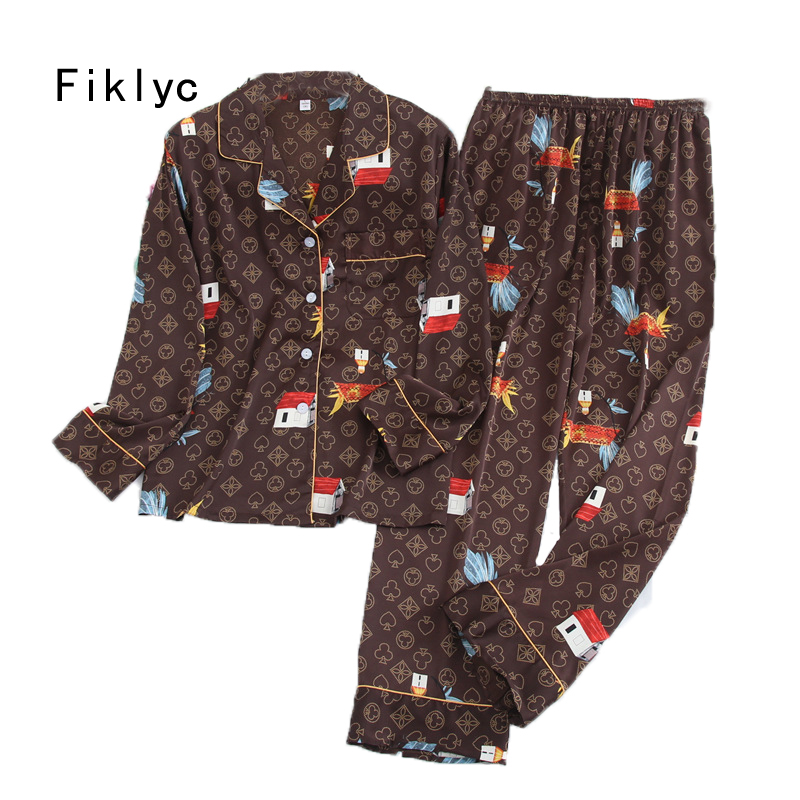 Fiklyc underwear beautiful women's sleep suits nightwear pajamas sets new arrival high quality M L XL XXL pyjamas sets|Pajama Sets| - AliExpress