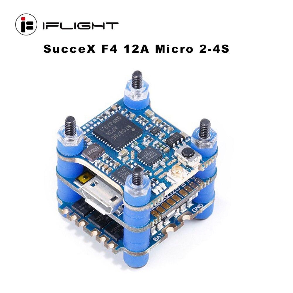 IFlight réussx F4 V2 Mini tour de contrôle de vol 2-4S avec réussx 12A Micro 4 en 1 ESC/réussx PIT/25/100/200/400/500 mW V2 VTX