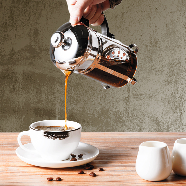 350/600/1000ml Coffee Tea Pot Manual French Presses Pot Coffee Maker Filter Pot Cafetera Expreso Percolator Tool Tea Filter Cup 1