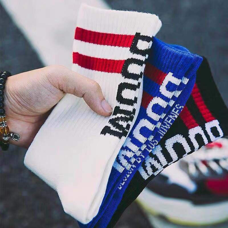 Street Fashion Socks Men/Women Letters BOOM Middle Tube Stockings Europe And America Hip Hop Wild High Skateboard Socks