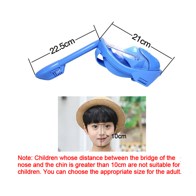 Children Snorkel Diving Mask for kids Swimming Training Full Face Mask Scuba Equipment mergulho For Gopro Free Breath Gear Tube 3