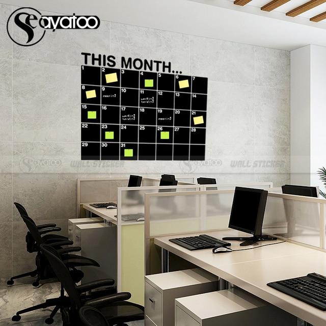 This Month Calendar Erasable Chalkboard Planner 58x72cm 2