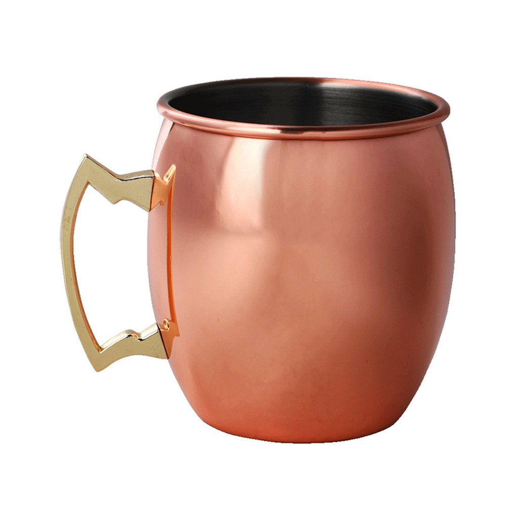Wine Cup Moscow Mule Mug 304 Stainless Steel Food safe Cocktail Cup Handmade Hammered Copper Plated Cups 550ml Drinking Mug|Tumblers| |  - title=
