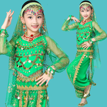halloween clown costume clothing for children classic cosplay suit set for kids boys kids christmas stage performance wear Belly Dance Costume Children Indian Dance Suit Oriental Dance Wear Kids Sequin Bollywood Dance Clothing Stage Performance