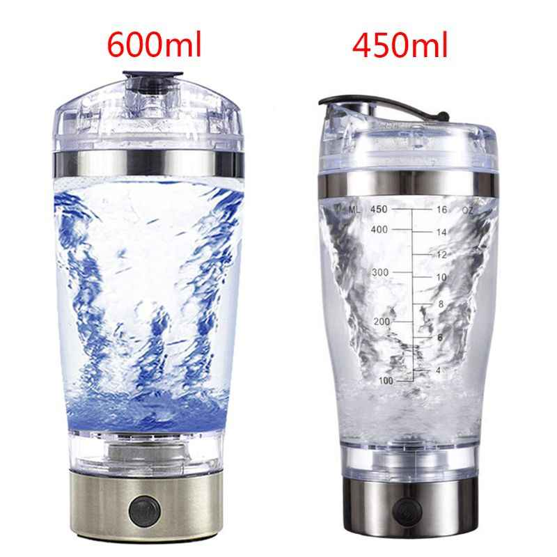 450 Ml/600 Ml USB Rechargeable Electric Pencampuran Cup Portable Protein Bubuk Otomatis Shaker Botol Anti Bocor Mixer