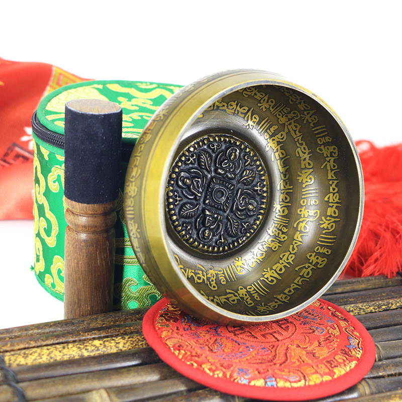 2019 Belief Singing Bowl Set Mindfulness Mantra Yoga With Mallet Gift Ornament Home Tibetan Chakra Healing Meditation Nepal