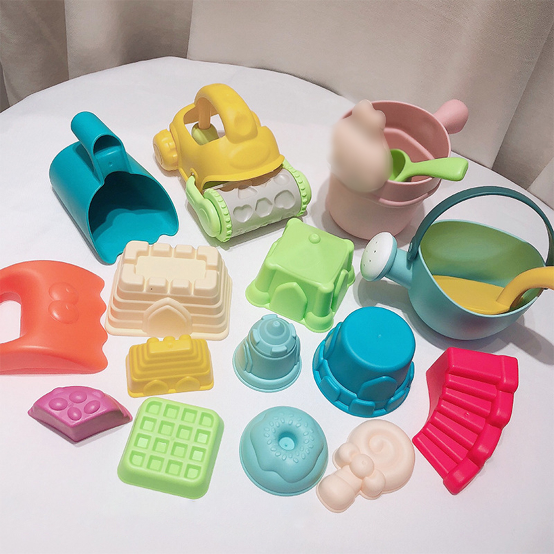 2020 Summer 17Pcs/set Children Outdoor Beach Playset PVC Castle Model Sand Beach Shovel Non-toxic Toy Gift For Kids Baby Fun