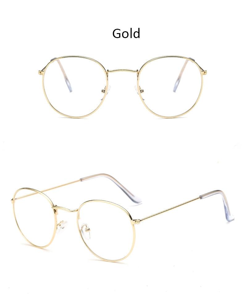 Fashion glasses frame Classic Round Women's Metal frame Optical Glasses Computer blue light Glasses oval eyeglasses frame Retro (15)