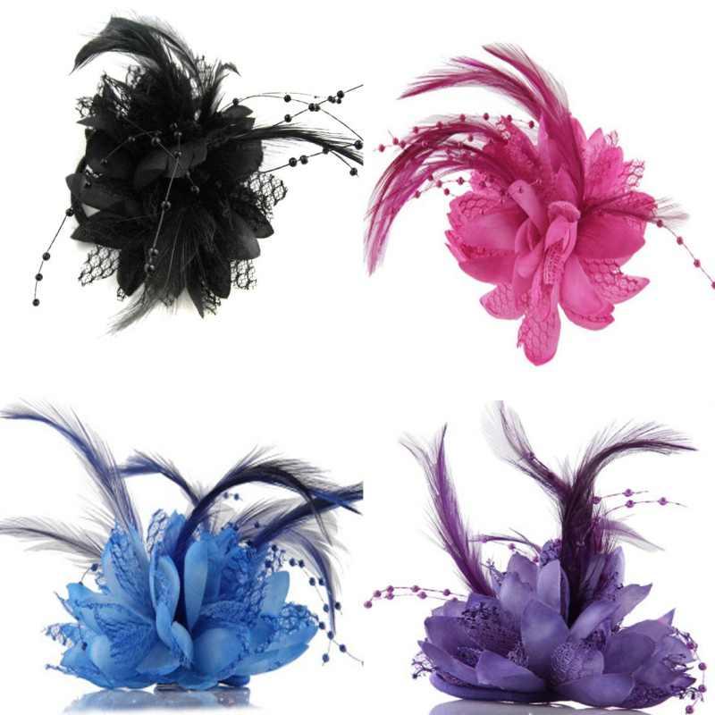 Nieuwe Tovenaar Bridal Lady Wedding Bridal Bloem Broche Haarspelden Veer Haar Clips Party Haarband Accessoire Goede Kwaliteit