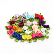 Silk Ribbon Rosette Crafts-Supplies Decoration Cake Wedding Mini Scrapbooking DIY