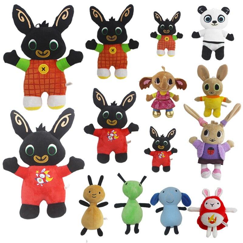 20-35cm Bing Plüsch Spielzeug Bing Kaninchen Plushie Spielzeug Gefüllte Weiche Tier Panda Elefanten Ameisen Puppen Kawaii Spielzeug für Kinder Geburtstag Geschenk