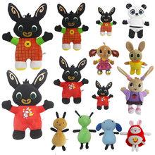 20-35cm Bing peluş oyuncak Bing tavşan peluş oyuncaklar dolması yumuşak hayvan Panda fil karıncalar bebekler için Kawaii oyuncaklar çocuklar için doğum günü hediyesi
