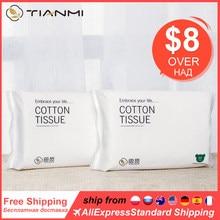 Serviette démaquillante en coton, Non tissée, humide et sec, pour bébé, sac à serviettes, nettoyage du visage, jetable, 50 pièces