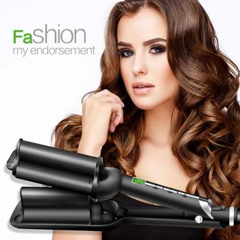 LCD Heating Hair Curling Irons Professional Curlers Tongs Wand Barrel For Hair Caring Styling Tools Corrugation Curling Irons
