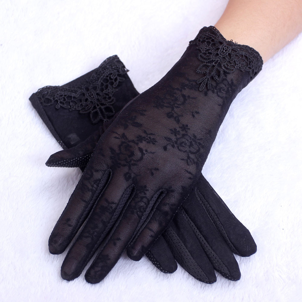 Sleeper #P501 2019 Fashion Women's Summer UV-Proof Driving Gloves Gloves Lace Gloves Luvas перчатки Winter Warm Full Finger Hot