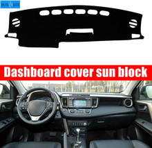 For Toyota RAV4 RAV 4 2013 2014 2015 2016 Right Left Hand Drive Car Dashboard Covers Mat Shade Cushion Pad Carpets Accessories