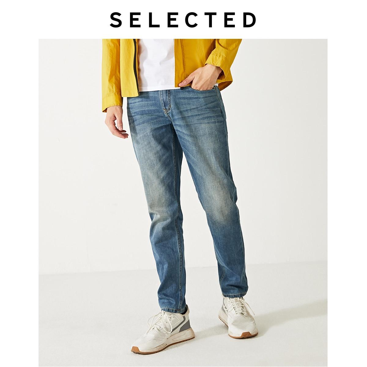 SELECTED Men's Slight Stretch Denim Pants New Regular Casual Tapered Tight-leg Jeans S|419332526