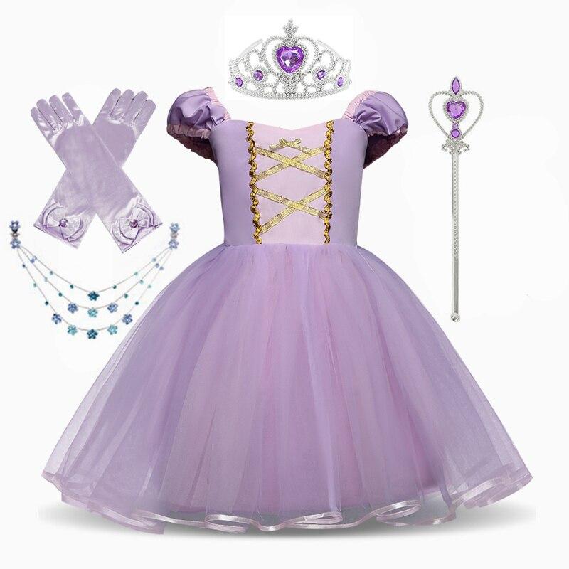 Princess Costume Snow Party Cosplay Dress For Girls Kids Dress up Clothing Fancy Halloween Dress Birthday Dress 2