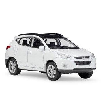 1/36 Hyundai Tucson IX35 Alloy Diecast Model Cars Pull Back Miniature Cars Metal Statue Simulation Mini Car Collection Toys