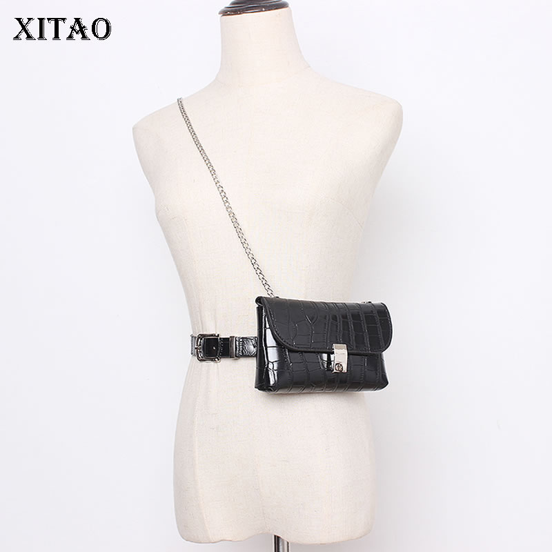 XITAO Vintage Corset Belt For Women Trend Chain Belt Bag Wild Fashion Cummerbund Streetwear Leather Accessories Women ZLL4623
