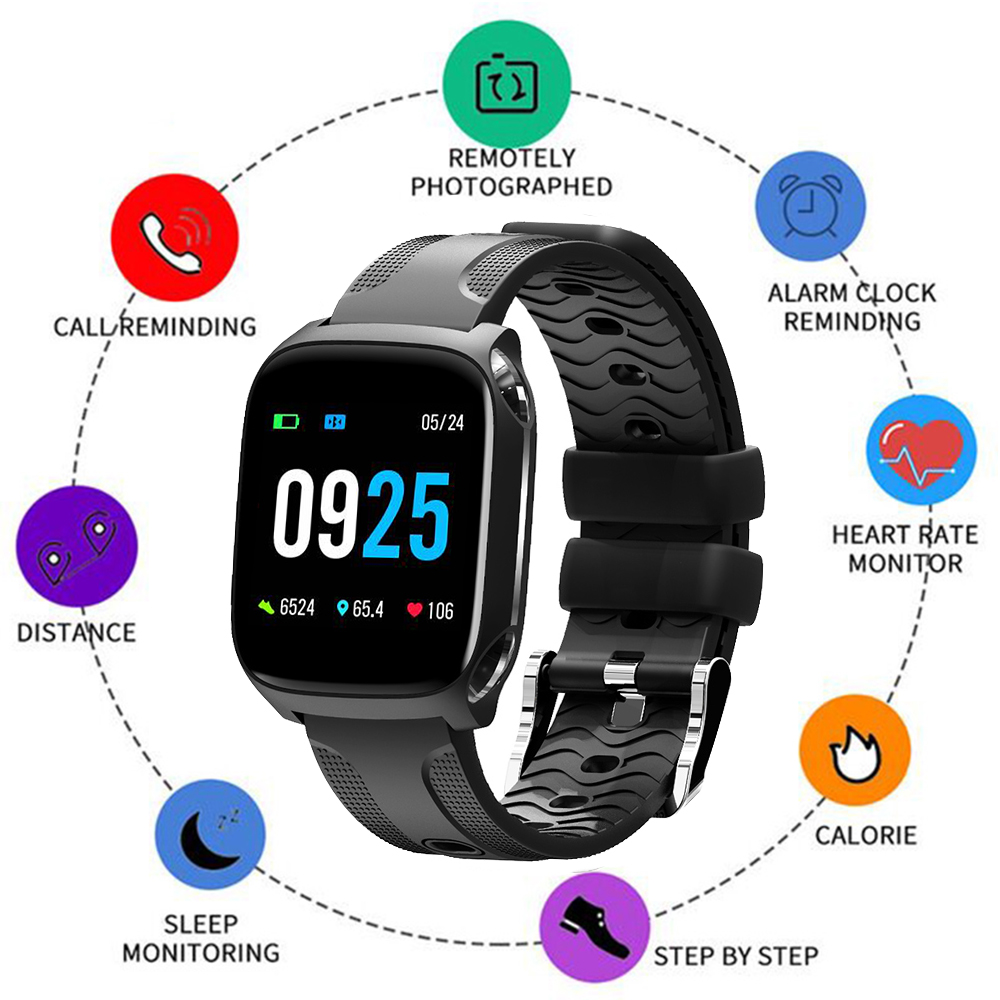 1.3 Inch Full Screen Touch Smart Watch Heart Rate Blood Pressure Monitoring Lady Smart Sports Watch Social Information Reminder