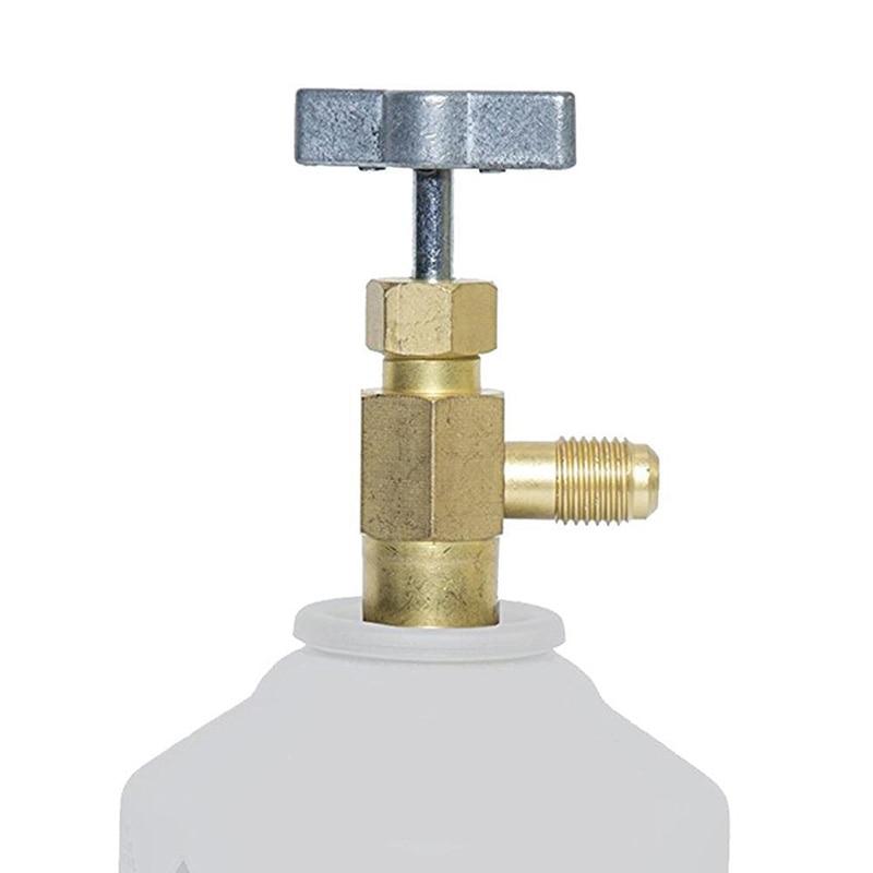 Сплав 1/4 SAE резьба адаптер R-134a хладагент бутылка кран-открывашка клапан инструмент авто аксессуары для автомобиля Стайлинг