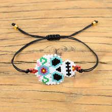 Go2boho Delica MIYUKI Punk Bracelet Women Mexican Skull Pulseras Mujer Moda 2019 Fashion Bracelets Etsy Jewelry Handwoven